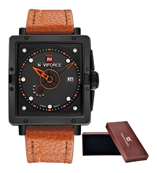 Relógio Masculino Naviforce 9065 Pulso Na Caixa Frete Grátis
