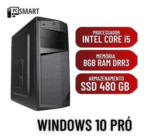 Computador Cpu Pc Desktop I5 8gb Ram 480gb De Ssd Win10 Pró