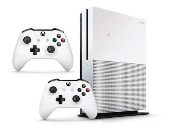 Microsoft Xbox One S 1tb Standard Branco - 2 Controles
