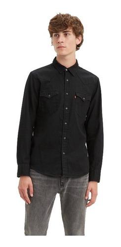 Camisa De Jean Levis Hombre Classic Western Shirt  Negra