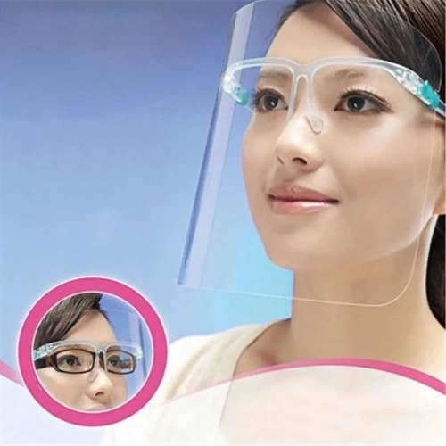 Imagen 1 de 12 de Protector Facial Careta Montura Lentes Anti Niebla Y Spray