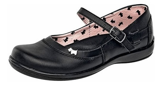 Zapatos Escolares Marca Ferrioni De Piel R2413ng Dog