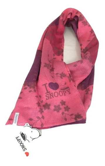 Bufanda Snoopy Dama Niña Varios Colores Modelo Rombos