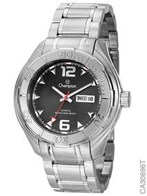 Relógio Champion Masculino Prateado Ca30696t + Nota Fiscal