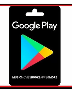 Gift Card Google Play 20 Dolares
