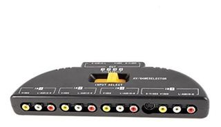 Mosuch 4way Audio Video Av Rca Switch Game Selector Box Spli