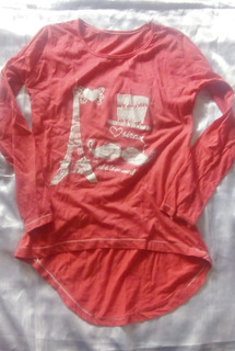 Camiseta Color Coral Talle S