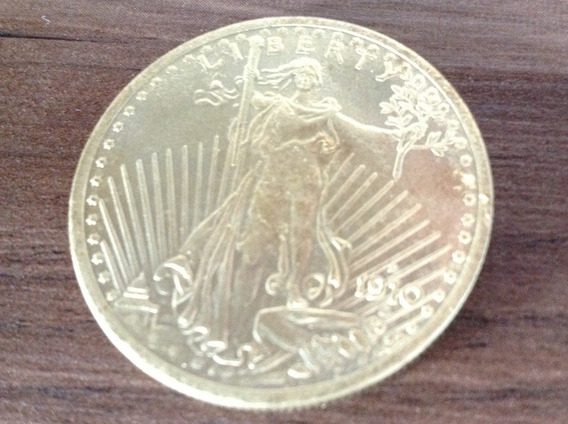 Magnifica Rara E Valiosa Moeda U$ 20 - U S A - Réplica Ouro