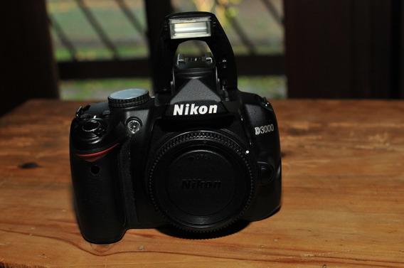 Câmera Dslr Nikon D3000 + Objetiva Sigma 18-250 + 2 Baterias