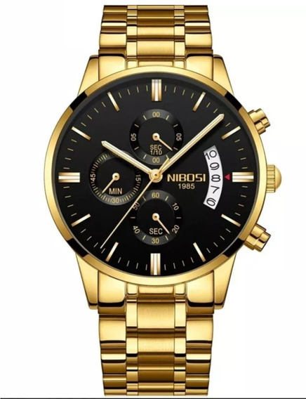Relógio Masculino Nibosi Blindado Antirisco - Promoção