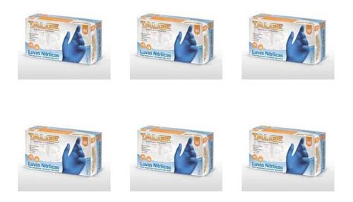 Imagem 1 de 1 de Talge Luva Nitrilica Azul Sem Pó M C/100 (kit C/06)