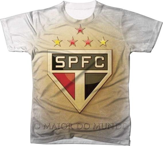 Camisa Camiseta Blusa Time São Paulo Futebol Ref 01