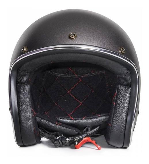 Capacete Urban Helmets Grafite Vintage Com Viseira Bolha