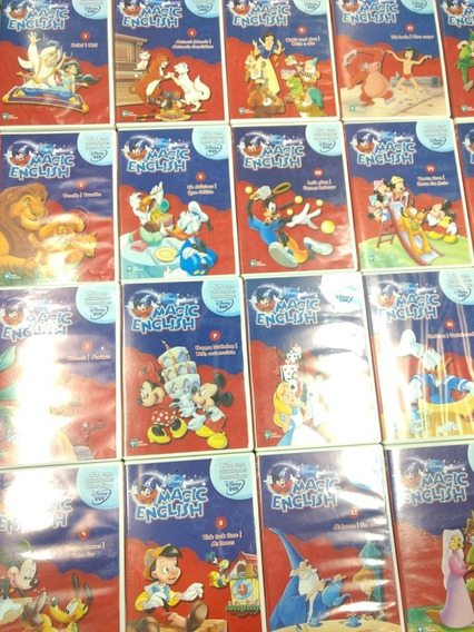 Dvds Magic English Disney Completo Com 26 Dvds Original.