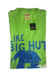 Camiseta Hollister Masculina Verde