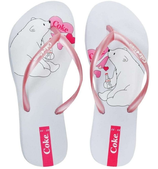 Chinelo Feminino Urso Coke Shoes R$ 29,90