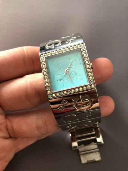 Relógio Guess Bracelete Mostrador Azul Stainless Steel