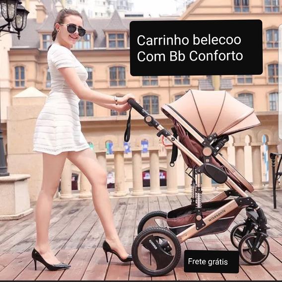 Carrinho De Bebê Moisés + Bebe Conforto Pronta Entrega