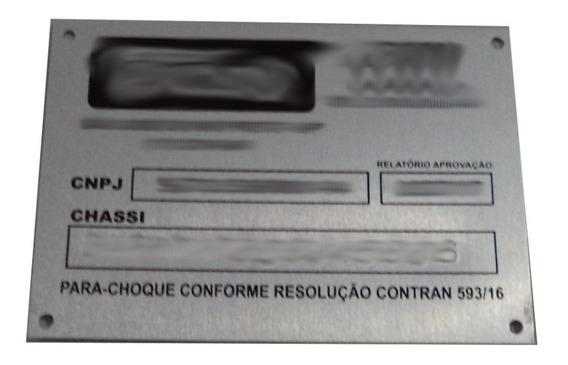 Plaqueta Placa De Para-choque Resolução 593/16 Caminhões