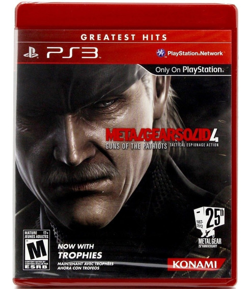 Game Play3 - Metal Gear Solid 4 - Semi-novo Jogo Ps3