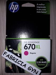 Cartucho De Tinta Hp 670 Xl Cz119ab Magen Original E Lacrado