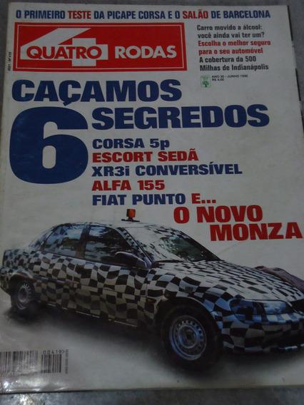 Quatro Rodas Nº 419 Monza Picape Corsa Sportage Maxima