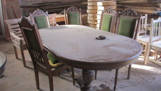 Jogo De Mesa E Cadeiras Antigas