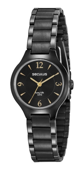 Relógio Seculus Long Life 2 Anos De Garantia 77017lpsvpa2