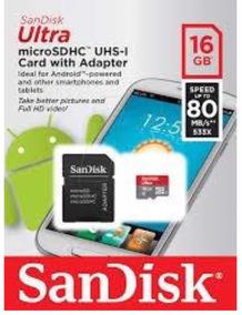 Kit 20 Cartões De Memória Sandisk 16gb Classe 10 / 80 Mb