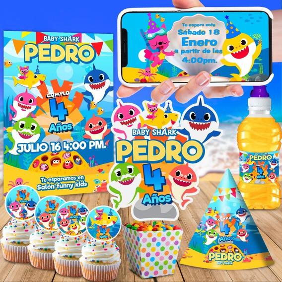 Invitación En Video Baby Shark Doo Doo Doo + Kit Imprimible