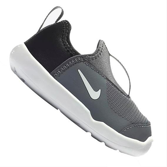 Tênis Slip On Infantil Nike Lil Swoosh Td Cinza Original
