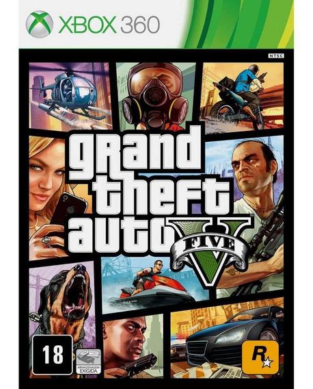 Xbox 360 Midia Digital Gta 5 Entrego