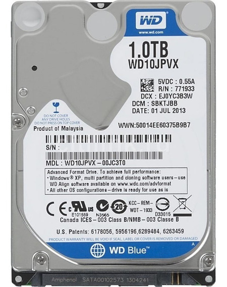 Disco Rigido 1tb 2.5 Sata Notebook Ps3 Xbox