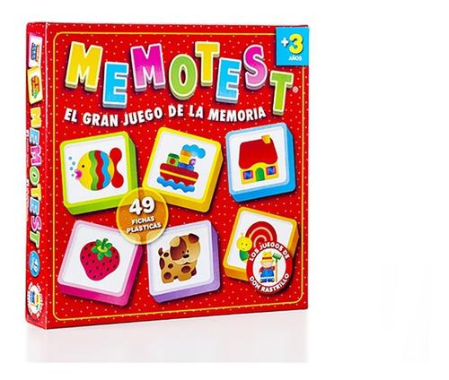 Memotest Infantil Fichas Plasticas Ruibal Original