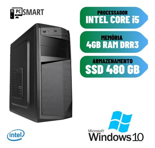 Imagem 1 de 2 de Cpu Computador Desktop I5 4gb Ssd 480 Win10 Hdmi Dvd Star !