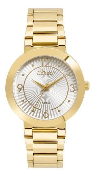 Relógio Feminino Condor Bracelete Dourado - Original