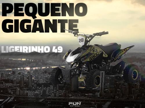 Mini Quadriciclo Fun Motors Infantil Ligeirinho 49cc
