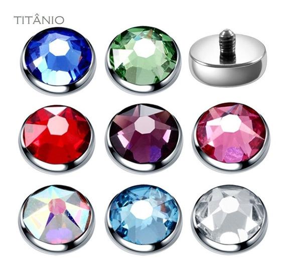 (1 Peça) Topo Piercing Microdermal Titânio Cores 5mm 6mm