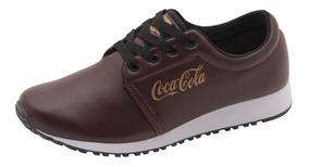 Tenis Calçado Coca Cola Feminino Caminhada Barato Promoção
