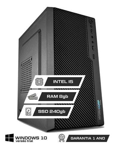 Computador Corporativo Intel I5   8gb Ddr3 Ssd 240gb   C/ Nf
