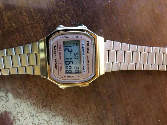 Relógio Casio A168 Dourado