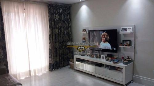 Apartamento Com 3 Dormitórios À Venda, 107 M² Por R$ 590.000,00 - Belém - São Paulo/sp - Ap0087