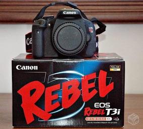 Canon T3i - Na Caixa Com Grip + 3 Baterias. 10k