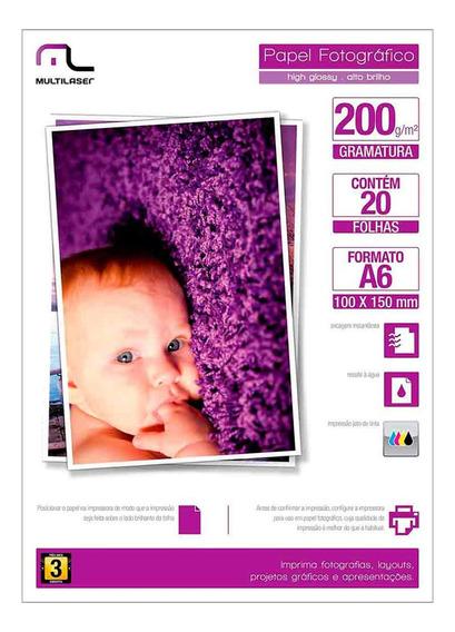 Papel Fotográfico Especial Photo Multilaser Pe010 Paper A6
