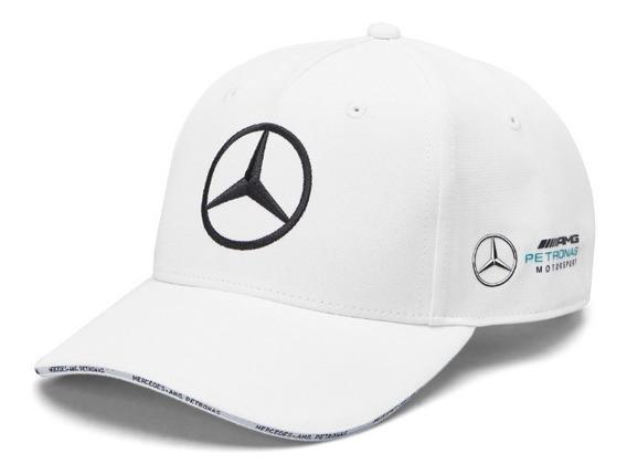 Gorra Mercedes Benz Petronas Blanca Modelo Nuevo **2019**