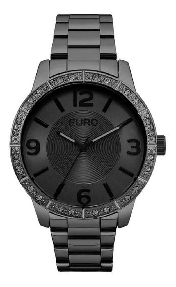 Relógio Feminino Euro Analógico Eu2036ylq/4p Preto