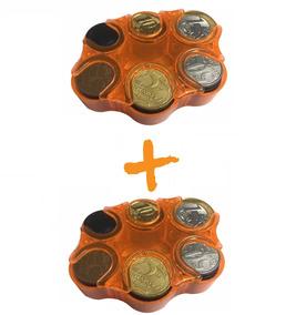 Porta Moedas Bolso Organizador Dinheiro Loja Kit 02 Peças