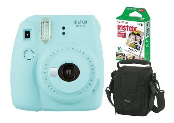 Câmera Instantânea Fujifilm Instax Mini 9 Azul Aqua +pack 10