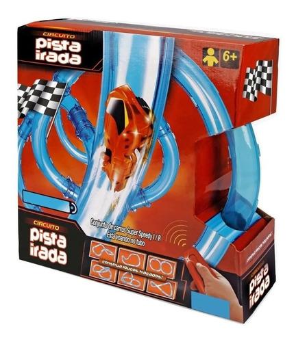 Circuito Pista Irada 24 Peças + R/c + Ball Monta 12 Pistas