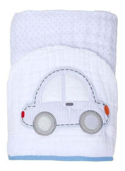 Toalha Banho Bebe Soft Forrada 90cmx75cm Bordada Envio 24h